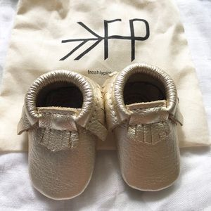 NB Freshly Picked Moccasins platinum new w/o box